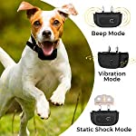 [Upgraded 2020] Dog Training Collar with Remote - Shock Collar for Dogs Range 1600 feet, Vibration Control, Rechargeable Bark E-Collar - IPX7 Waterproof for Small, Medium, Large Dogs, All Breeds 18