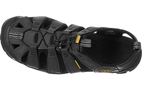 Keen Clearwater CNX Leather, Sandalias de Senderismo Para Hombre negro