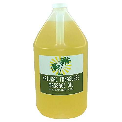 Oil Coconut Base (Natural Treasures All Natural Massage Oil - Coconut Oil Base - 1 gal)
