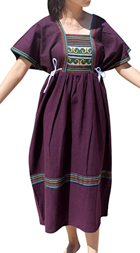 Raan Pah Muang Brand Traditional Korean Inspired Sac Korea Dress Thai Cotton Korea, X-Large, Palatinate Purple by Raan Pah Muang