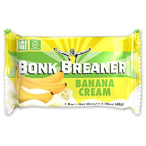 (Bonk Breaker Energy Bar, Banana Cream, 1.76 Oz (12 Count), Gluten Free & Dairy Free)