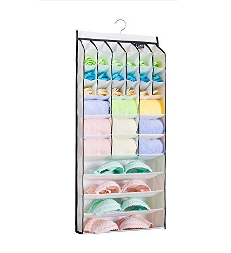 42 cells Hanging Closet Organizer/underwear organizer/bra organizer/socks organizer (Pink)