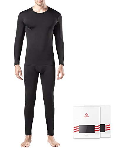 Lapasa Men's Thermal Underwear Set Fleece Lined Long Sleeve Top & Bottom Wicking Long Johns For Winter Traveling Ski M11 – DiZiSports Store