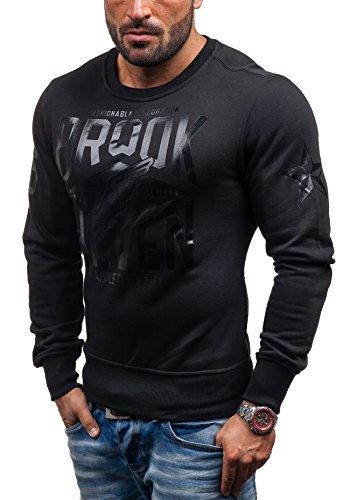 BOLF Sweatshirt Pullover Longsleeve J.STYLE Y-02 Schwarz L [1A1]