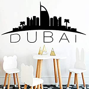 TYLPK Moda Dubai mapa etiqueta de la pared decoración del hogar ...