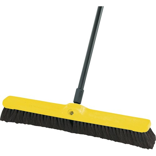 Rubbermaid Commercial FG9B0500 Horsehair/Tampico Fiber Hardwood Block Fine Floor Sweep, 36-Inch Head Width, Black (FG9B0500BLA)