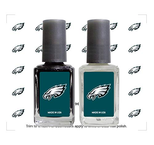 (Worthy Promo NFL Philadelphia Eagles Nail Care Set, 4-Piece Set, Black, White)
