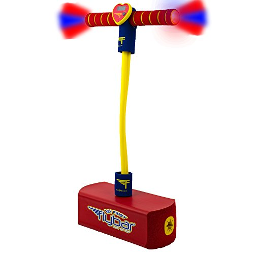 Flybar My First Foam Pogo Jumper Safe Pogo Hopper for Kids Ages 3 & Up (Red LED)