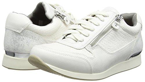 Snake Sneaker White Mujer 1504 Baja Blanco White Leather Strada Look La Zapatilla Weiß qETX7