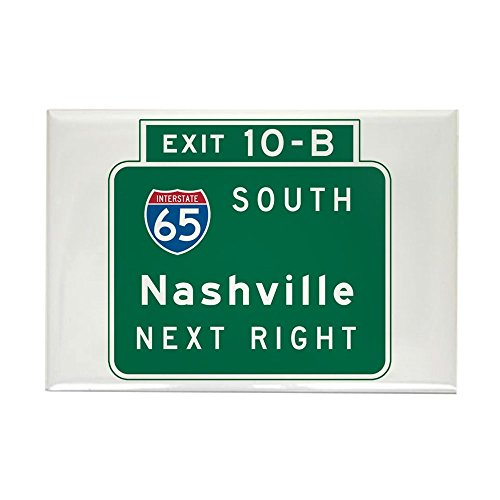 CafePress Nashville, TN Highway Sign Rectangle Magnet, 2