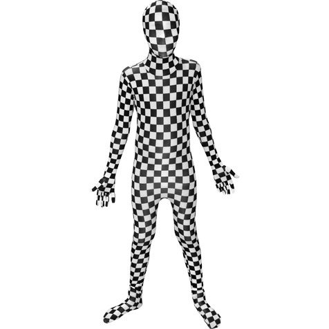 Black And White Check Morphsuit Boys (Check Morphsuit)
