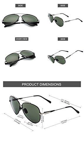 Metal Estilo de Estuche Hombres Con Aviador El CHB 400 de Protección UV Marco Sol Gafas Polarizadas zqpXq