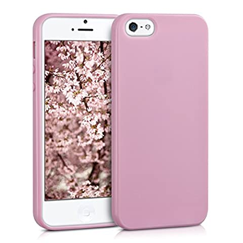 kwmobile Chic TPU Silicone Case for the Apple iPhone SE / 5 / 5S in antique pink matt (I Phone 5s Case In Pink)