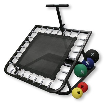 CanDo Adjustable Ball Rebounder - Set with Rectangular Rebounder, 5-balls (1 each 2,4,7,11,15 lb.)