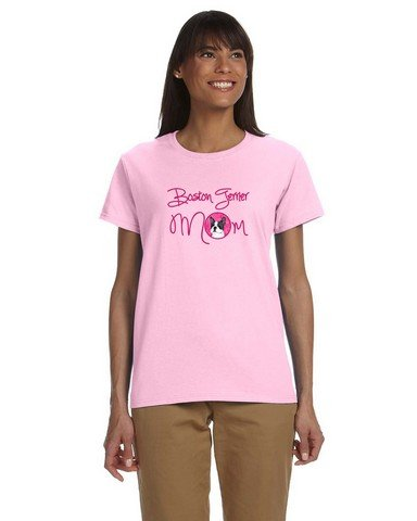 Caroline's Treasures SS4792PK-978-Parent Pink Boston Terrier Mom T-shirt Ladies, , multicolor