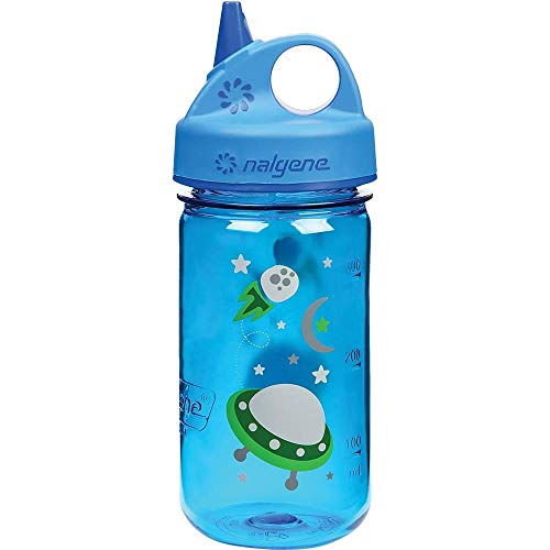 Nalgene Grip 'n Gulp Space Bottle, Blue