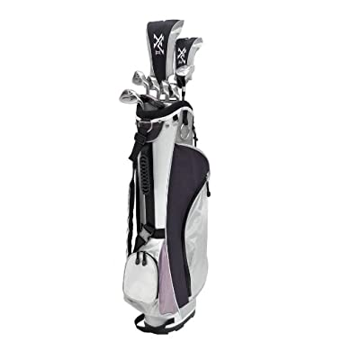 Knight Women's XV II Complete Golf Set (Right Hand, Ladies Flex, Driver, 3 Fairway Wood, 4/5 Hybrid, 6-PW, Putter, Bag)