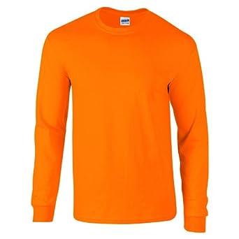 Gildan Mens Long Sleeve Ultra Soft Style Cotton T Shirt