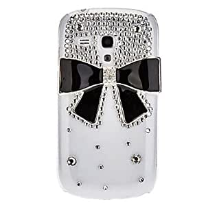 CL - Bling Bling Style caso duro del diseño del Bowknot elegante con el Rhinestone para Samsung Galaxy S3 I8190 Mini
