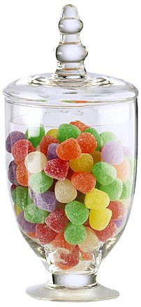 Global Amici Amici Parisian Apothecary Jar, 20 oz - Set of 2