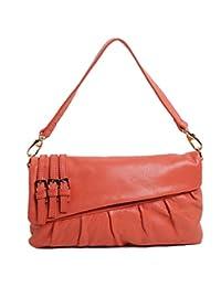 SAIERLONG Women's Tote Single Shoulder Bag Handbag Watermelon Red Cow Leather