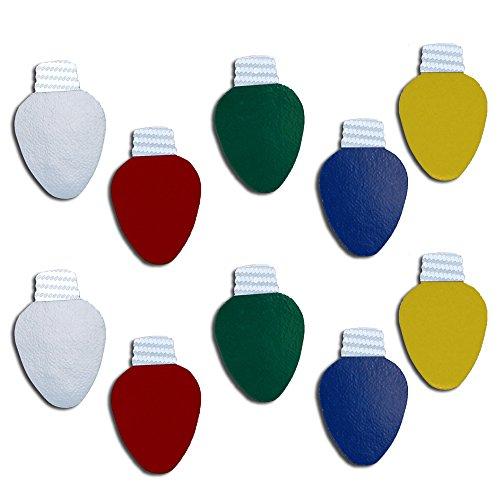 Colorsurge LLC Reflective Christmas Light Bulb-Shaped Magnets
