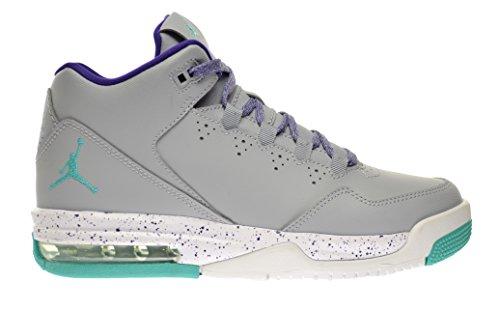 Jordan Flight Origin 2 GG Big Kids Shoes Wolf Grey/Light Retro-CRT Purple-White 718075-008 (4.5 M US)
