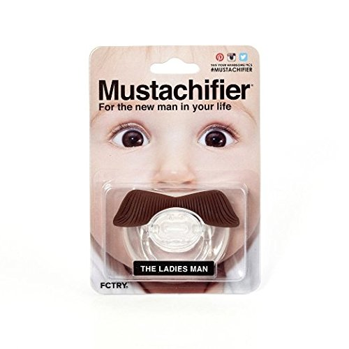 The Ladies Man Mustachifier - 0-6 Months Baby Orthodontic Mustache Pacifier - BPA Free (Brown)