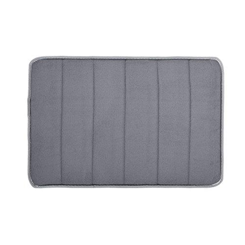 40cm x 60cm Anti-Slip Soft Floor Rug Carpet Bathroom Bedroom Bath Shower Mat (White) - 2