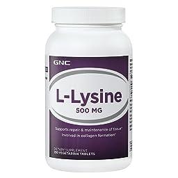 GNC LLysine 500 mg 250 Vegetarian Tablets