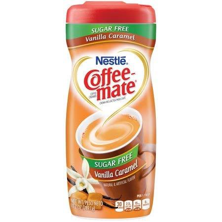 PACK OF 12 - Nestle Coffeemate Sugar Free Vanilla Caramel Powder Coffee Creamer 10.2 oz. Canister