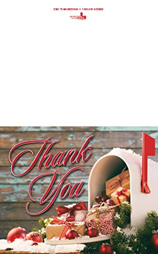 Christmas Postal Thank You Verse Card - 100 pack (Carrier Christmas Cards Mail)