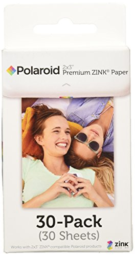Polaroid 2x3-Inch Premium ZINK Photo Paper for Polaroid Snap / Snap Touch / Z2300 / SocialMatic Instant Cameras / Zip Instant Printer, Regular Color Border, 30-Pack