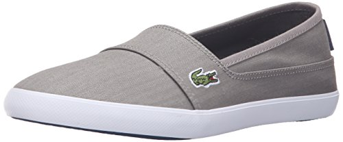 Lacoste Women's Marice Canvas Slip On, Grey herringbone canvas, 8 M US by Lacoste