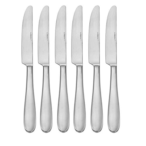 CraftKitchen Open Stock Stainless Steel Flatware Sets (Satin Classic, Dinner Knives Set of 6)