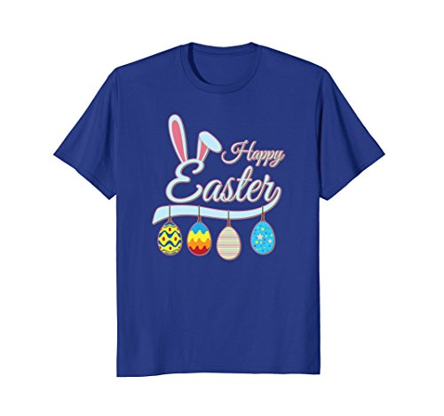- Happy Easter Bunny Tee shirt with Easter Eggs Tee
