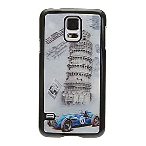 PEACH- Leaning Tower of Pisa 3D Changing Pattern Protective Plastic Hard Back Case Cover for Samsung Galaxy S5 I9600