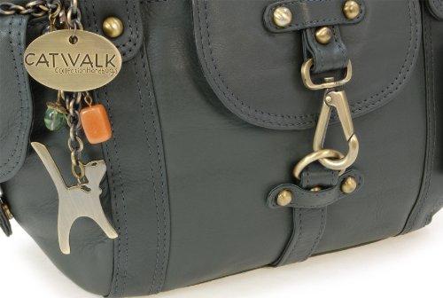 à en signé Sac Karlie Vert Collection main cuir Catwalk wHSq6S