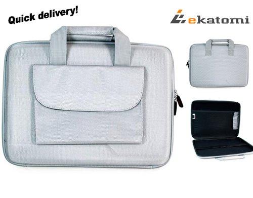 "[Cube] GREY   Universal 13-inch Laptop Bag Briefcase for Asus - 13.3"" Zenbook Ultrabook UX31-DH72. Bonus Ekatomi screen cleaner"