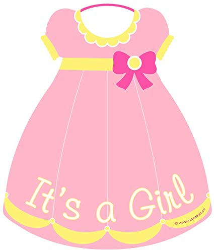 Cute News It's a Girl Sign - Baby Birth Announcement - Welcome Home Newborn Door Hanger - Shower Party Greeting - Hospital Stork Wreath - Gender Reveal Gift - Special Delivery Banner- Nursery Wall