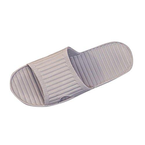 Clearance Men Summer Antiskid Flip Flops Shoes Sandals Durable Male Slipper Flip-Flops Home Beach Slippers Duseedik (GRAY, CN:41)