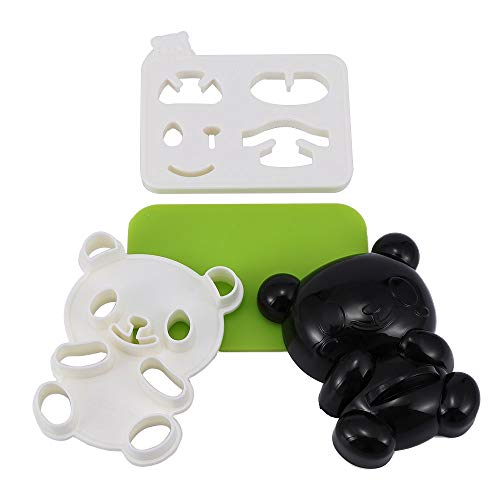 Sushi Tools - Creative Lovely Panda Shape Sandwich Rice Nori Seaweed Bento Mold Pie Mould Lunchbox Teddy Bear - Make Tools Pooh Mold Nori Sushi Mould Shape Panda Love Sticker Face Mask Seaweed -