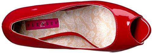 Pleaser Donne Chloe01 / R Pompa Della Piattaforma Vernice Rosso