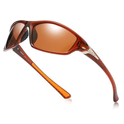 DUBERY Polarized Fishing Sunglasses for Men Women Ultra Light Outdoor Sports Driving Sunglasses UV400 Protection ()