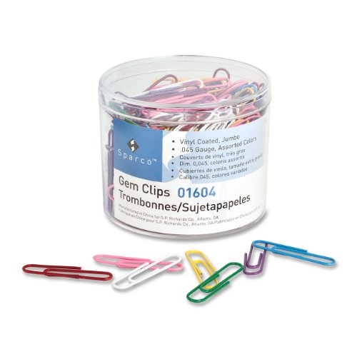 Colorful Jumbo Paper Clips