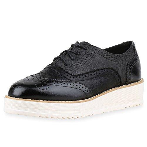 napoli-fashion - Zapatos de vestir brogues Mujer Schwarz Nero