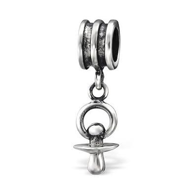 Colgante chupete Bead Charm en plata de ley 925 con sello ...