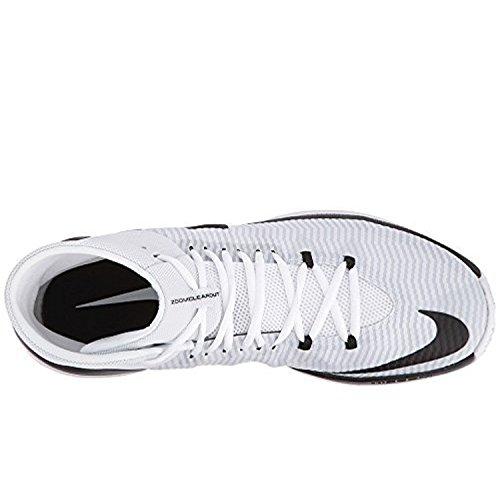 Nike Mens Zoom Clear Out Tb Scarpe Da Basket Nero / Bianco / Platino Puro