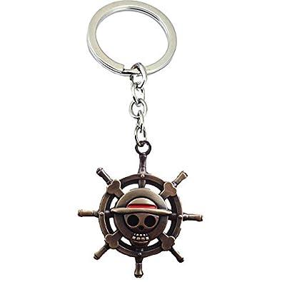 Amazon.com: Anime One Piece Keychain Key Chain Luffy Zoro ...