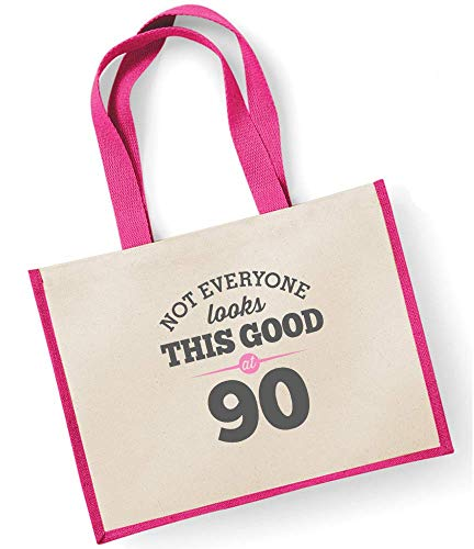 Ladies fuchsia Shopping Female Looking Funny Good For Keepsake Present Tote Gift Fuchsia Gifts Novelty Birthday 90th Idea Women Gifts Ladies Birthday Gift Bag vZ1nAq7xw6